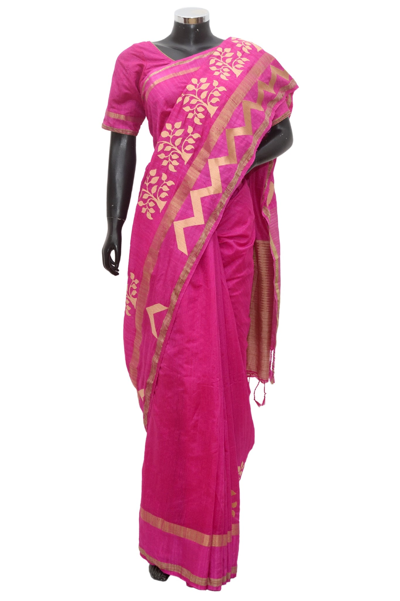 Pink silk saree #fdn900 -321