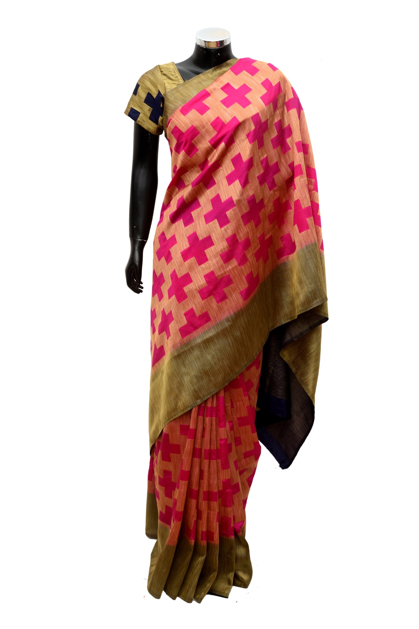 Silk saree in two colors #fdn903-321