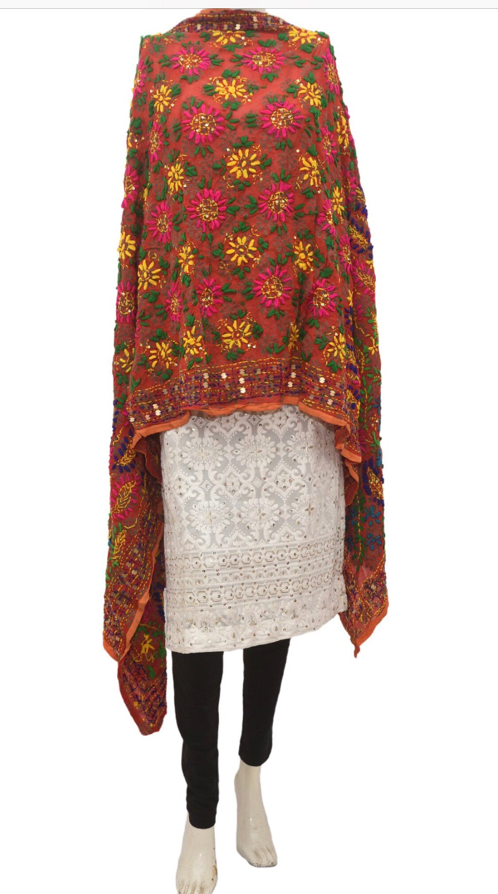 Embroidered dupatta #fdn926-141