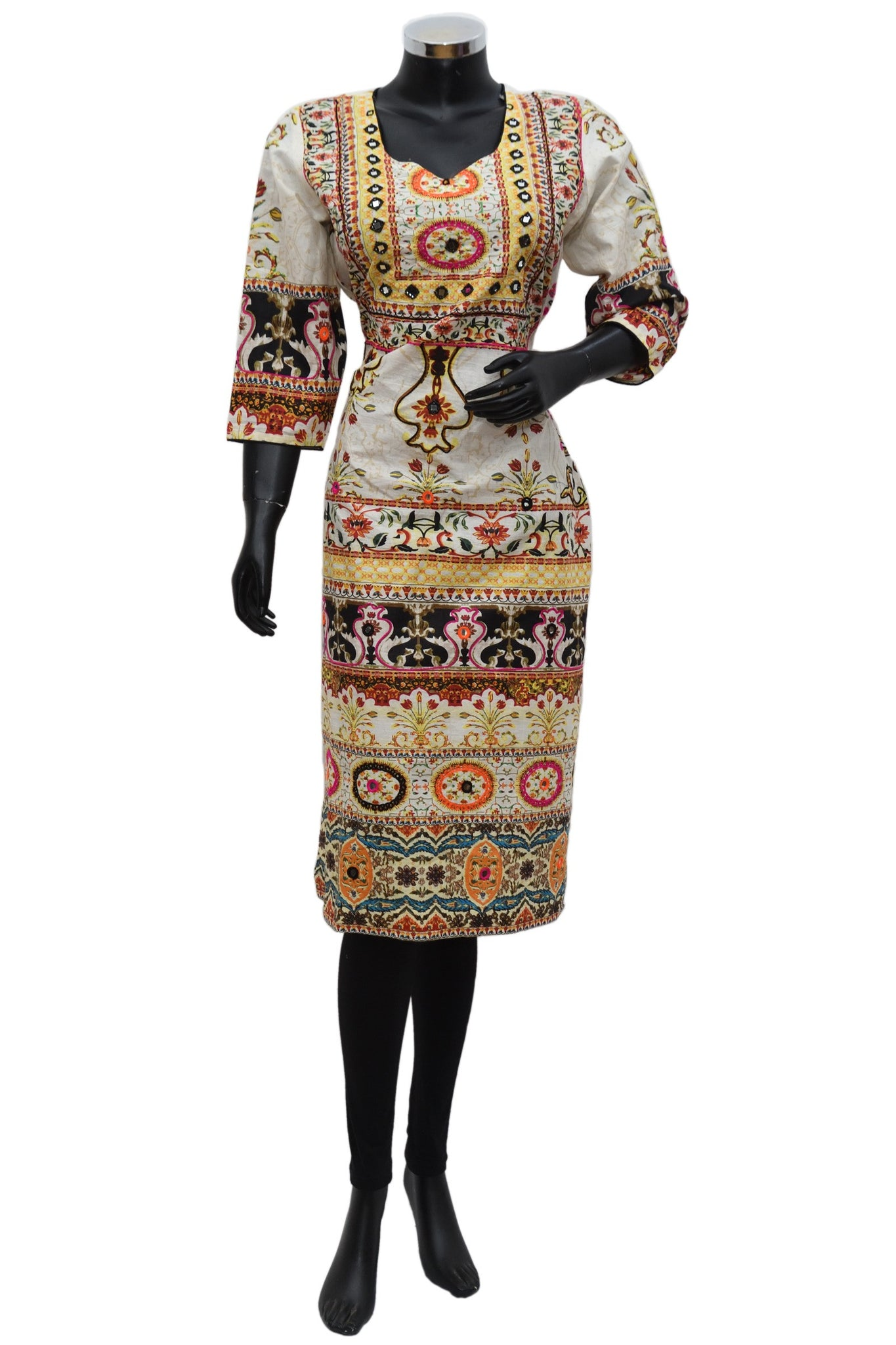 Printed kurta with mirror work #fdn686-121