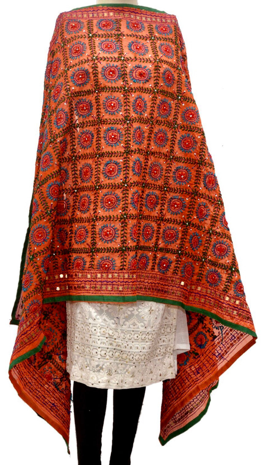 Embroidered dupatta #fdn938-141