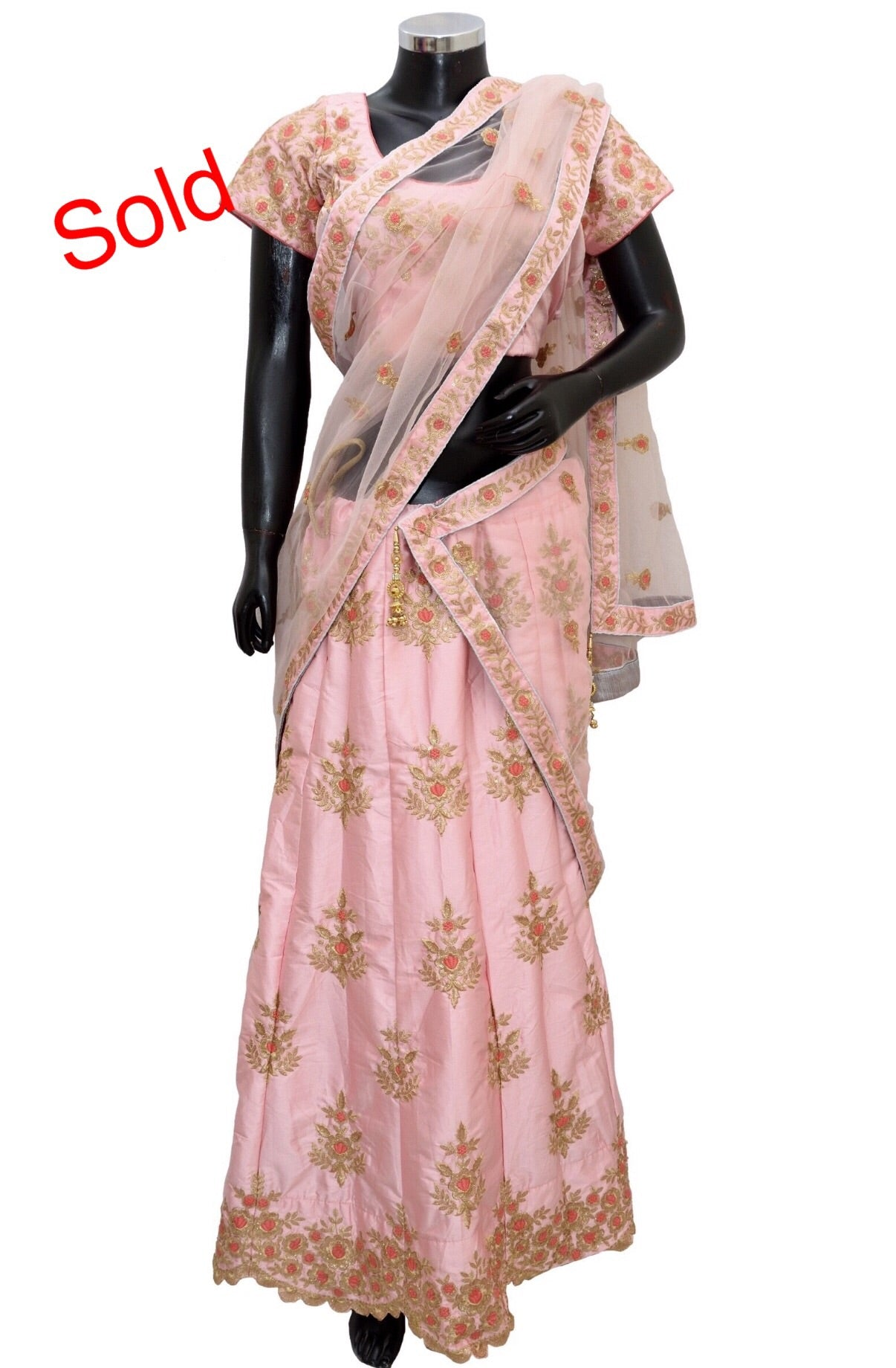 Pink embroidered lengha #fdn1466-431