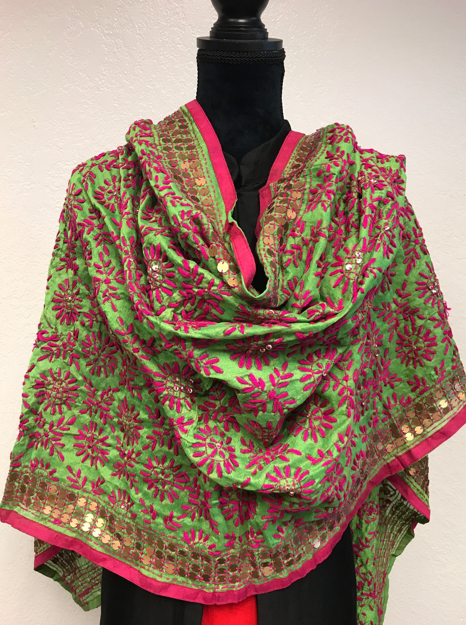 Embroidered dupatta #fdn633-131