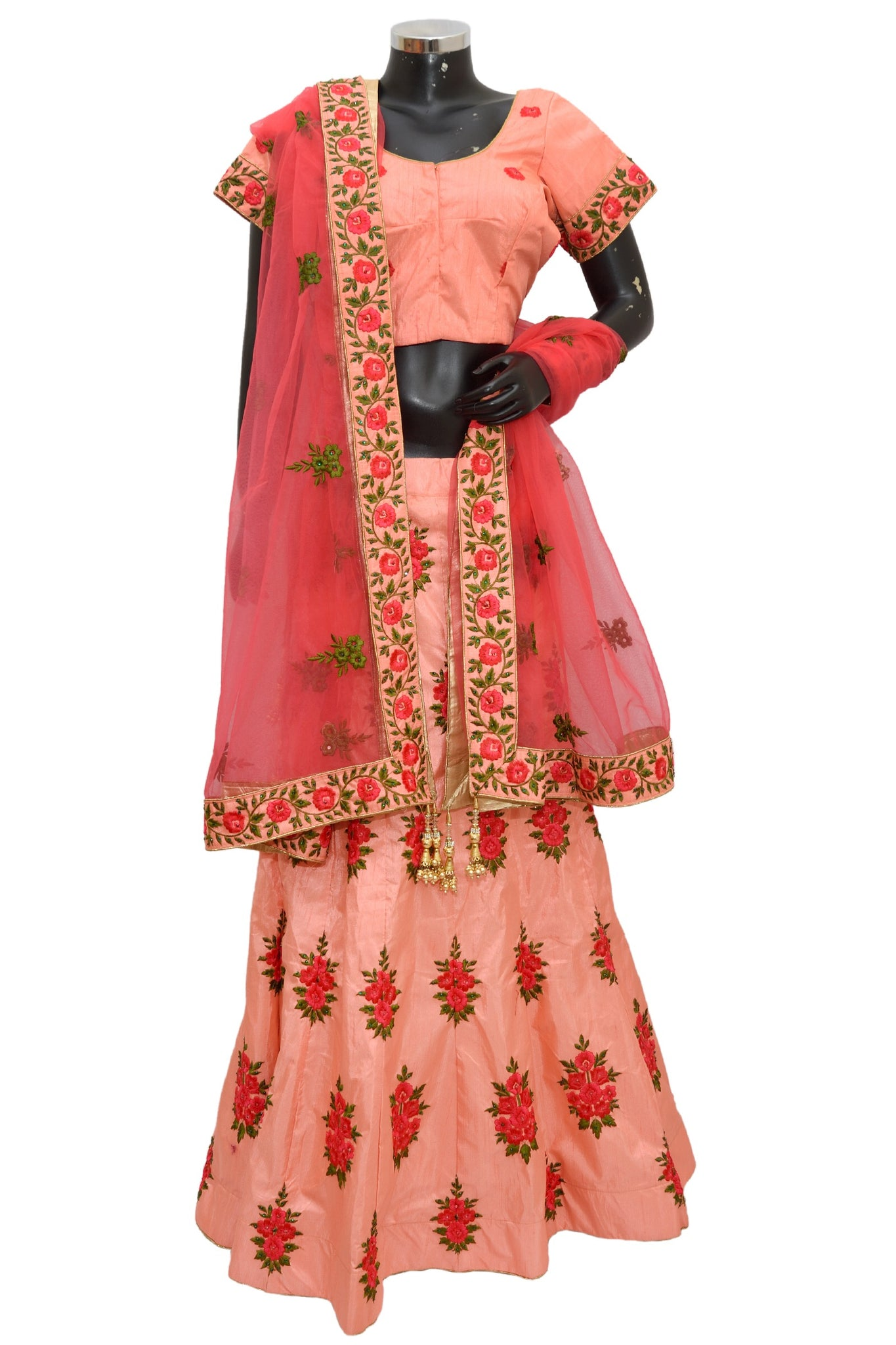 Embroidered ethnic lengha #fdn1408-481