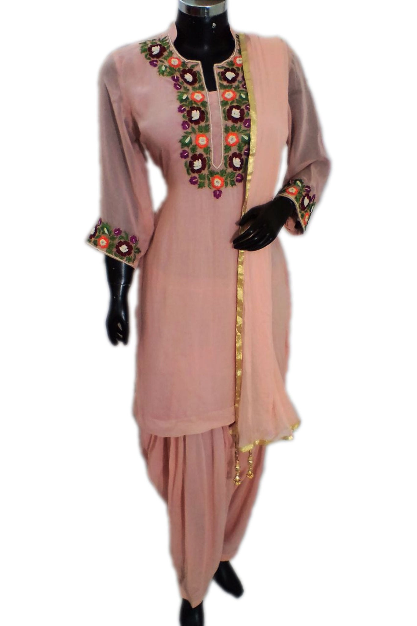 Embroidered patiala set #fdn1318-321