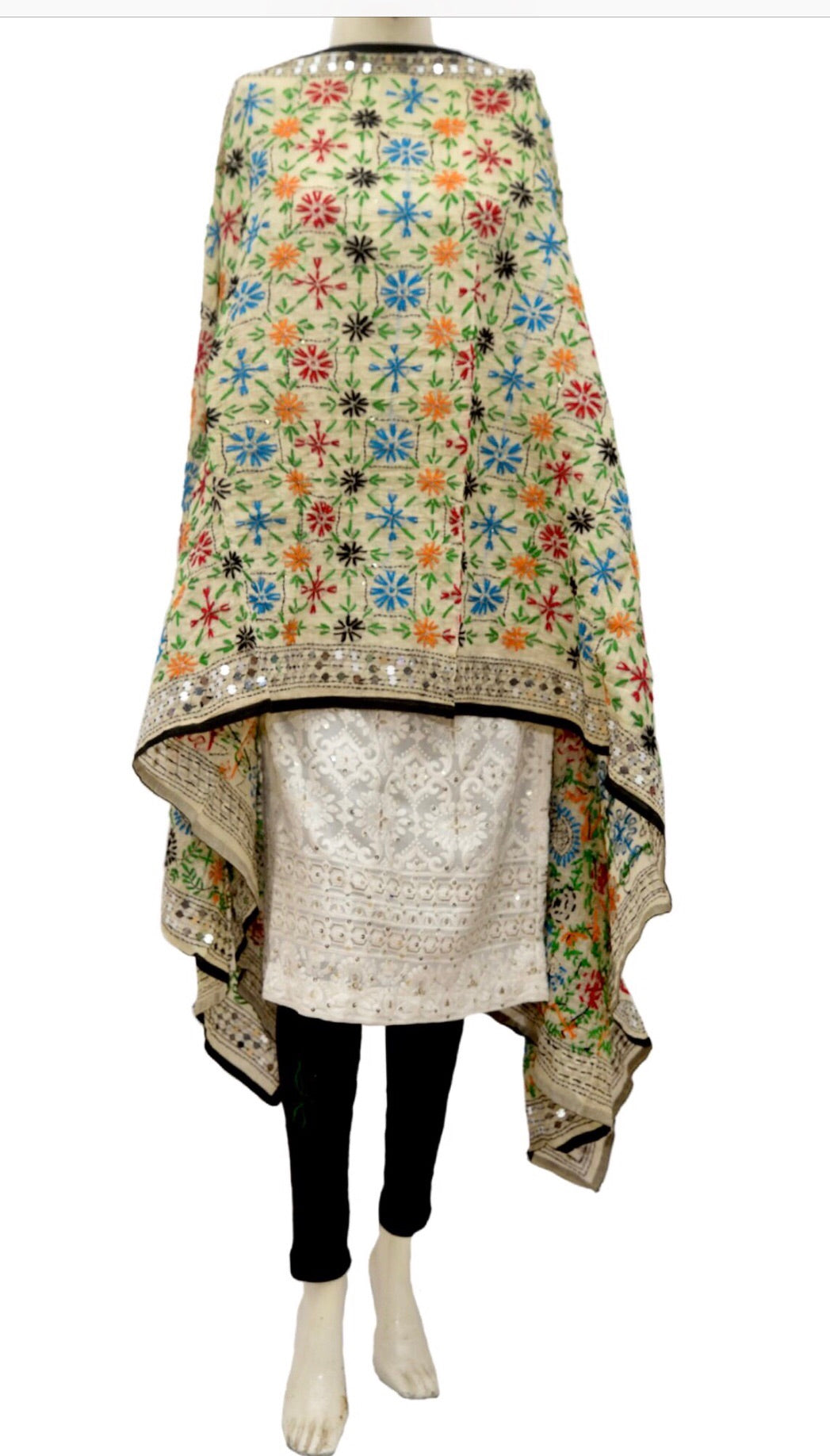 Embroidered dupatta #fdn933-141