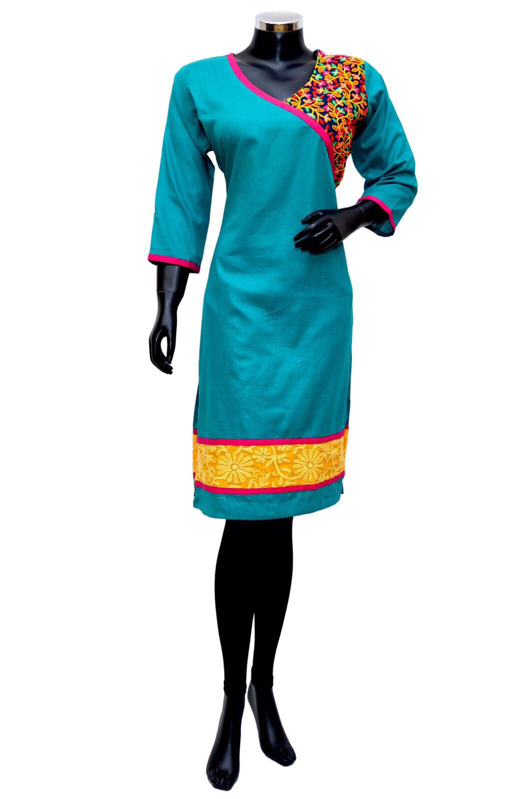 A colorful embroidered kurta #fdn0308