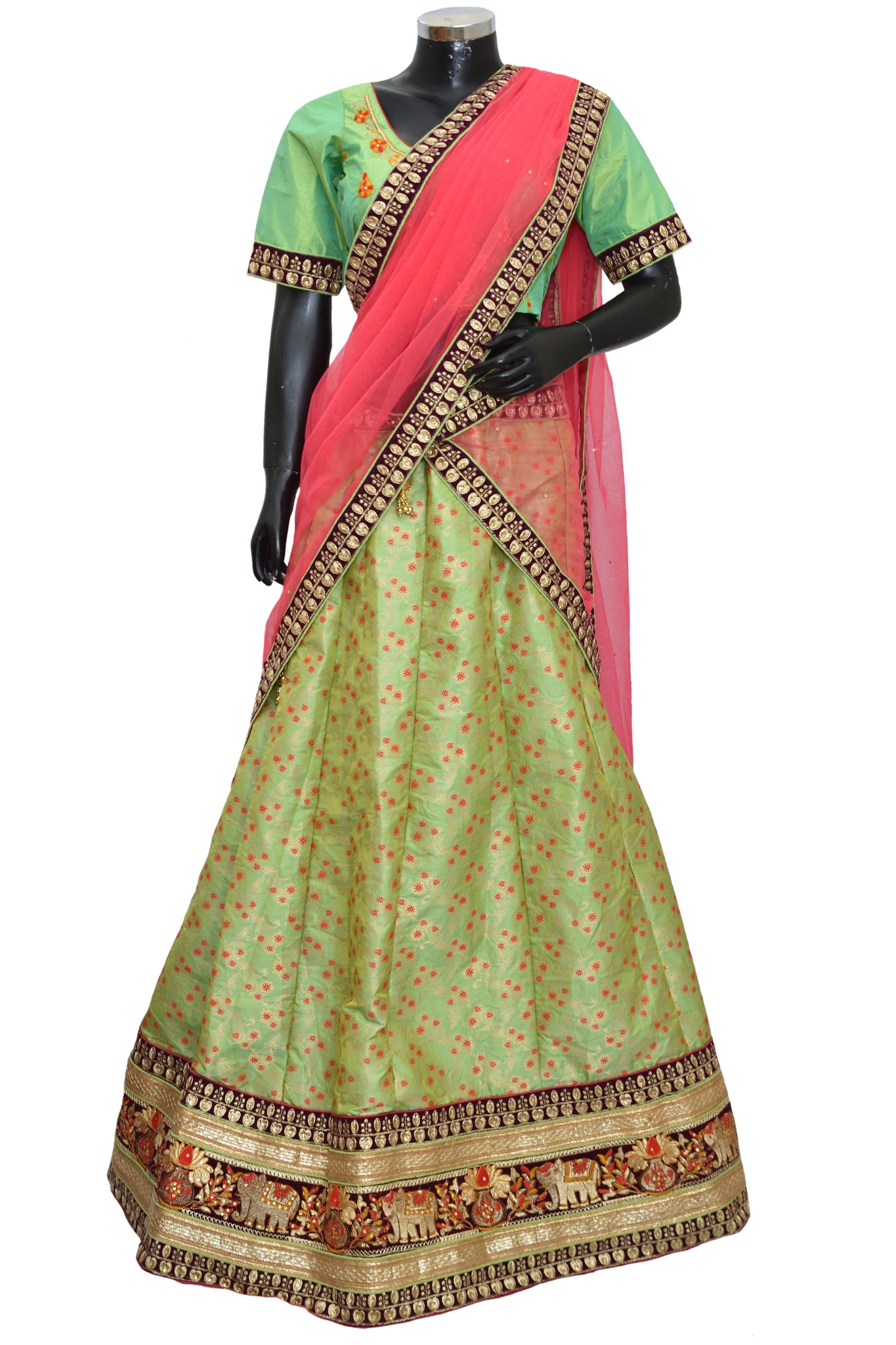 Ethnic embroidered lengha #fdn7079-501