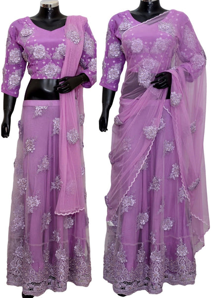 Embroidered lengha #fdn8020-701
