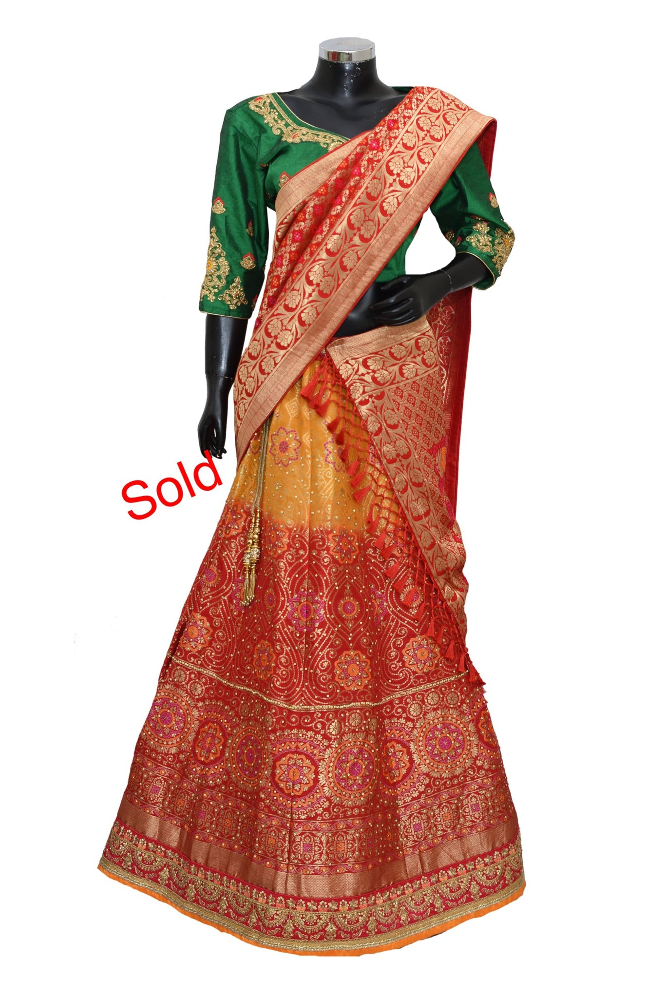 Embroidered lengha #fdn4034-1001