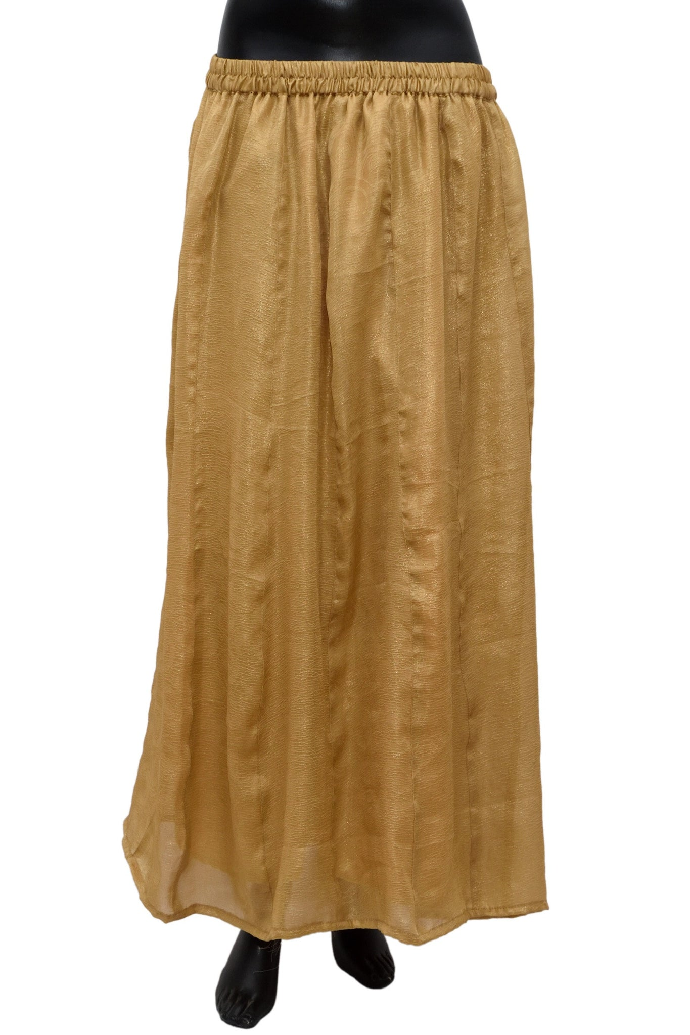 Gold color plain color long skirt #fdn0477