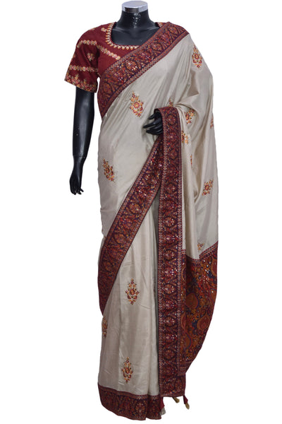 Silk Saree with embroidered blouse #fdn901187-301