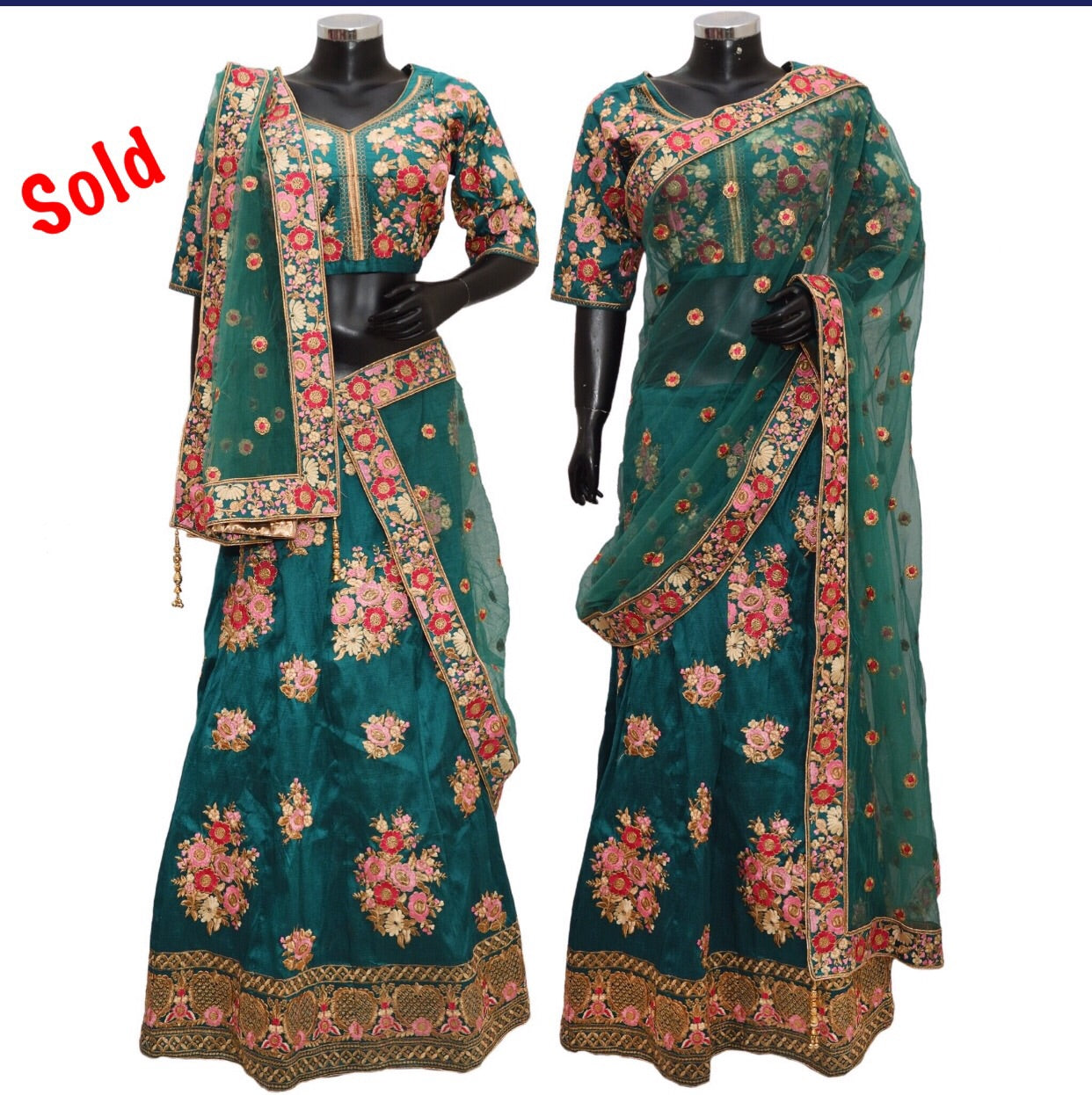 Embroidered lengha fdn1347-631