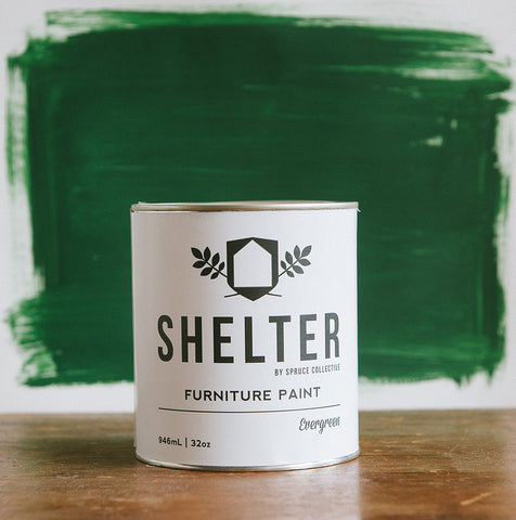 SHELTER Furniture Paint by Spruce Collective EVERGREEN