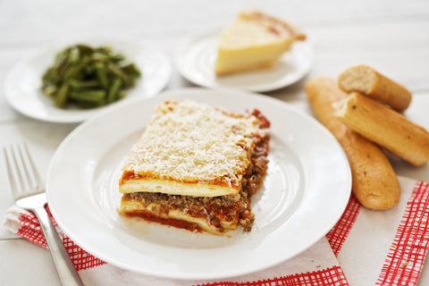 Meat Lasagna with Dessert