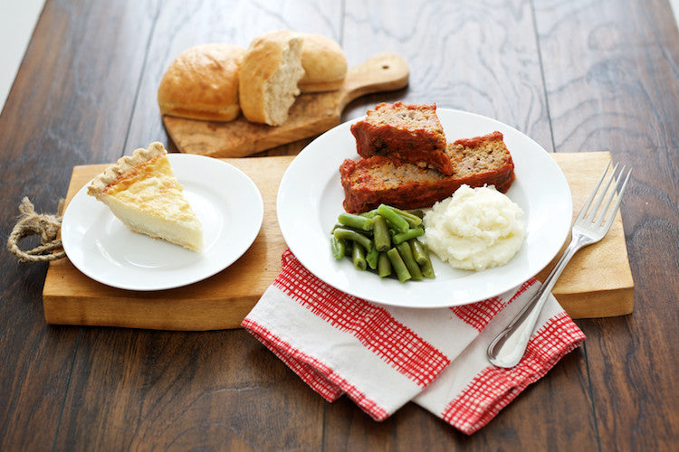 Meatloaf with Sauce and Dessert