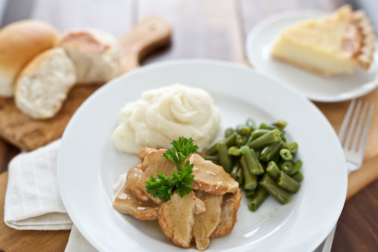 Roasted Turkey and Gravy with Dessert