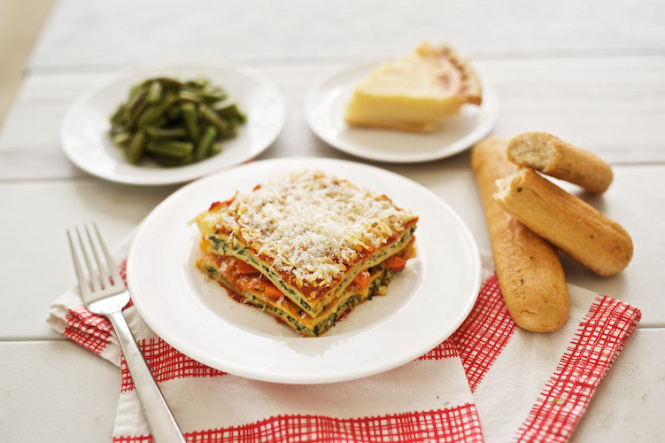 Vegetable Lasagna with Dessert