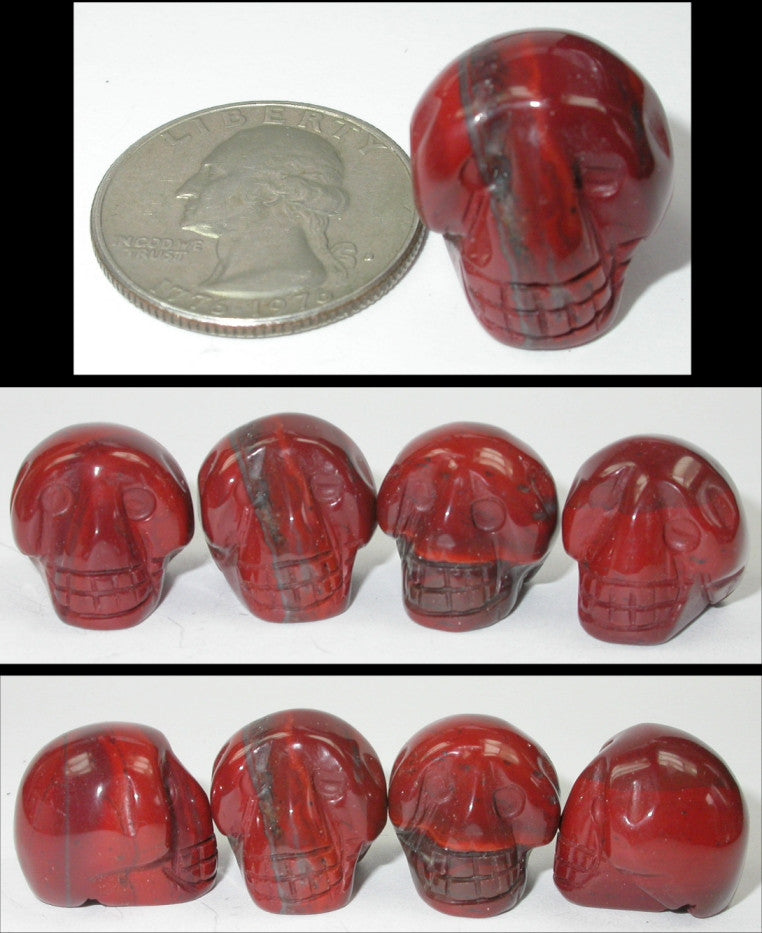 RED JASPER Pocket Sized Crystal Skull - Stone of Counselors and Healers!