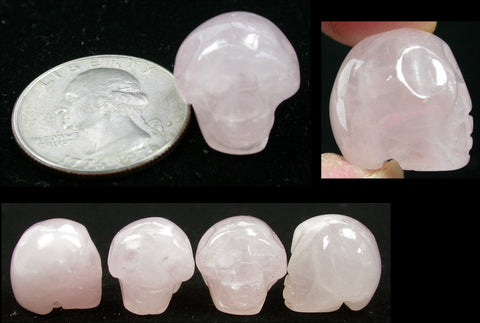 ROSE QUARTZ Pocket Sized Crystal Skull - Stone of LOVE!
