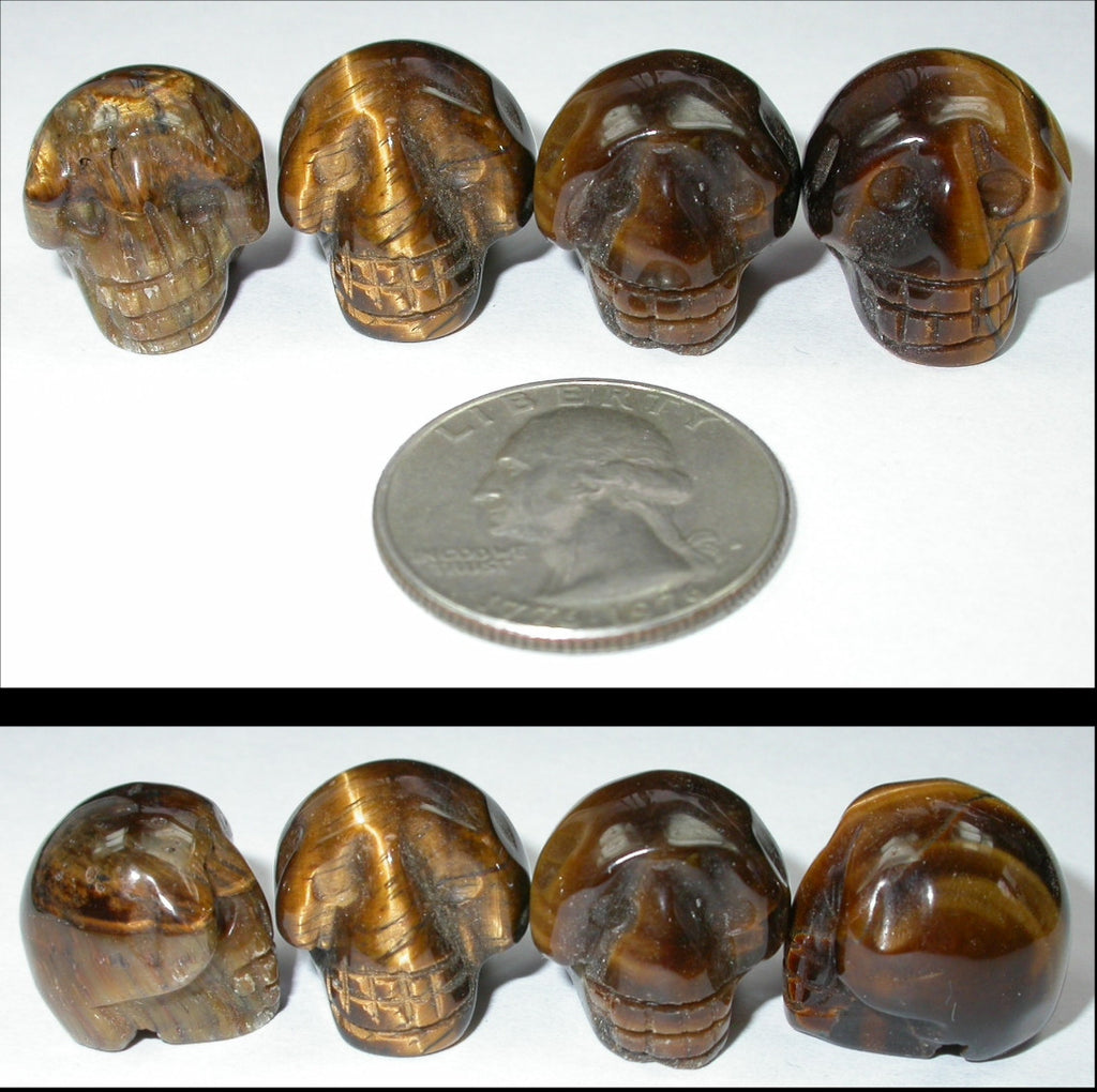 GOLDEN TIGER EYE Pocket Sized Crystal Skull - Let Go of Judgments!