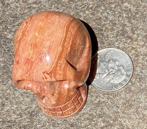 Red Spiral Jasper CRYSTAL SKULL w/ Groovy Psychedelic patterns