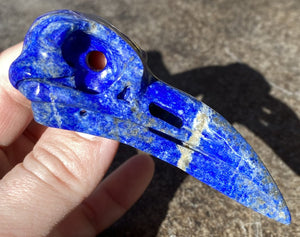 XL Lapis Lazuli RAVEN Crystal Skull - Throat Chakra, Manifestation