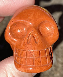Red Jasper CRYSTAL SKULL with Delicate patterns - Stone of Counselors and Healers