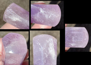 Brazilian Amethyst Crystal Wand with Shimmery Rainbows - Divine Guidance