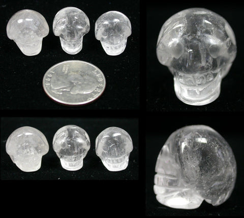 QUARTZ Pocket Sized Crystal Skull - Focus, Transformation!
