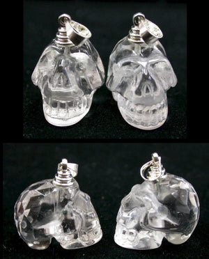 "SUPER SALE!! ~""A"" Quality~Himalayan Quartz Faceted Crystal Skull PENDANT or Pendulum"