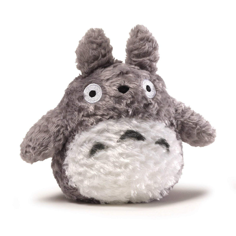 Studio Ghibli Fluffy Totoro Stuffed Animal Plush in Gray, 6