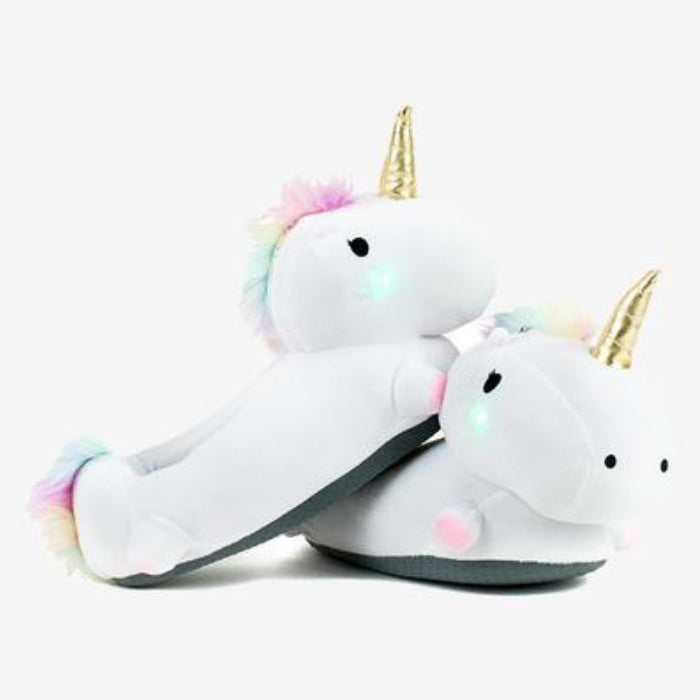 Unicorn LED Light Up Slippers (Kid Size)