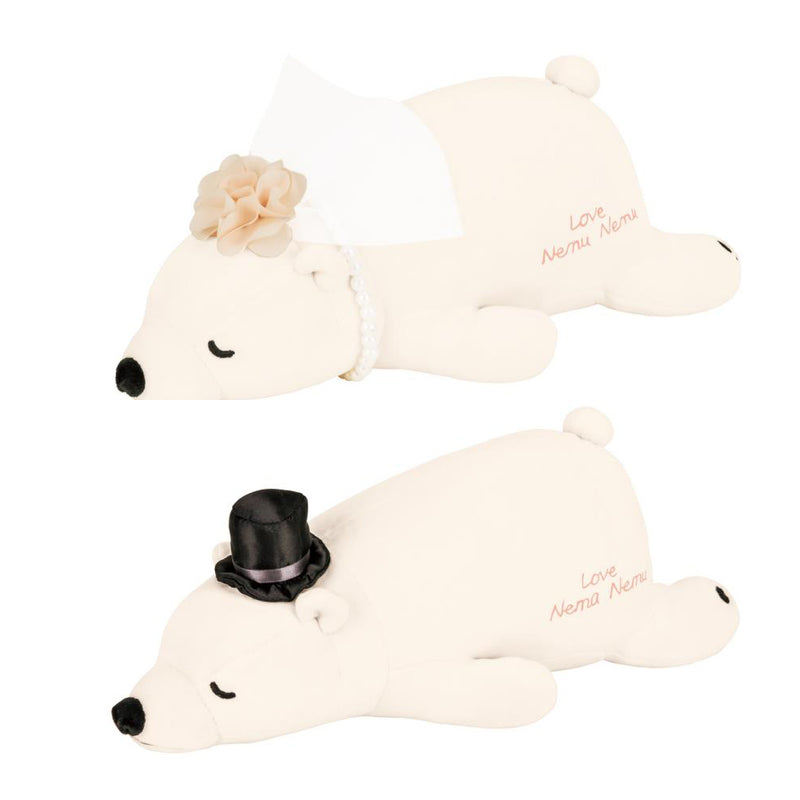 LivHeart Nemu Nemu Wedding Polar Bear Couple Plush