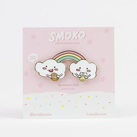 Rainbow Duo Enamel Pin