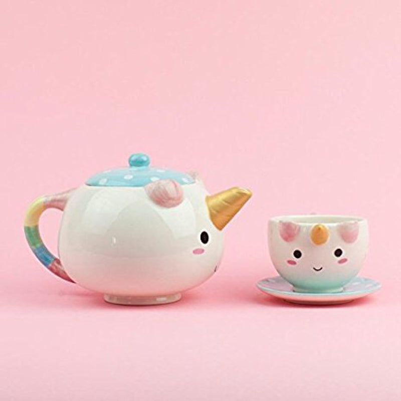 Elodie Unicorn Ceramic Teapot Set