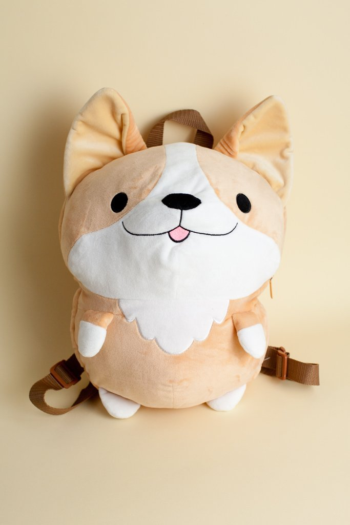 Milo Corgi Plush Backpack
