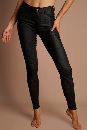 7/8 Oil Riggers High Waist- Black