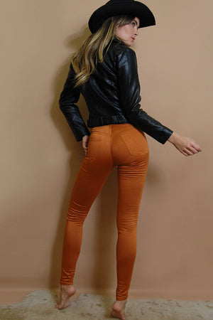 Burnt Orange High Waist Gelato Legs