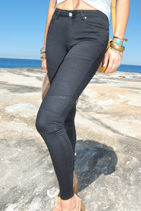 Black High Waist Biker Gelato Legs