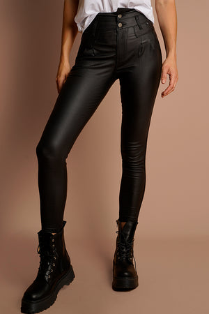 LIMITED EDITION 7/8 Oil Riggers High Waist- Black