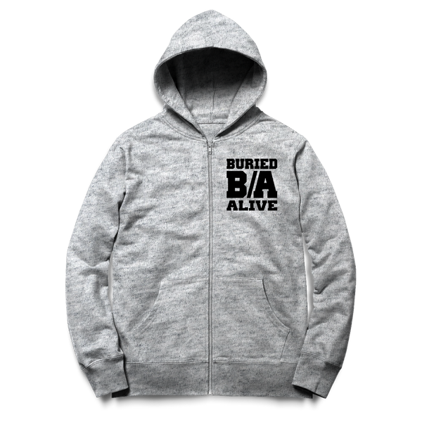 Buried Alive - B/A Zip Up Hoodie - Shop Shogun