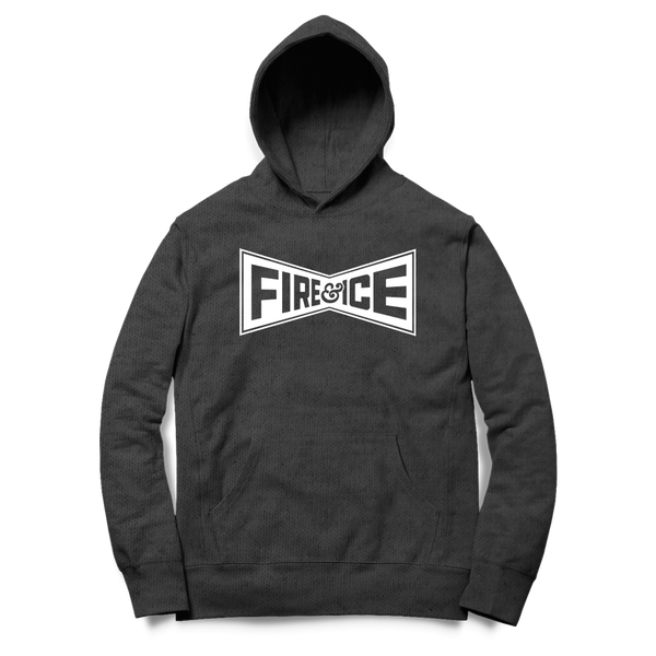 Fire & Ice - Champion Hoodie (Charcoal) - Shop Shogun