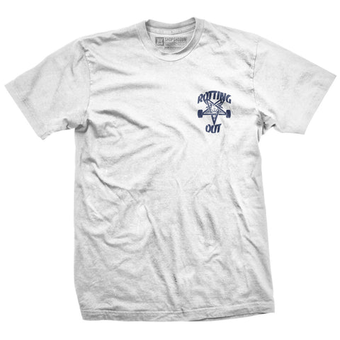 Rotting Out - Thrasher (White & Navy)