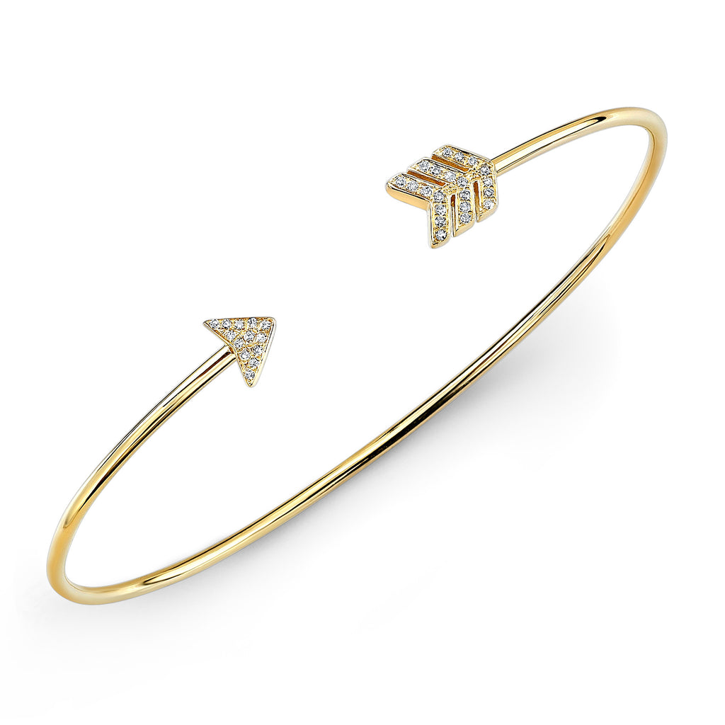 18k Gold & Diamond Arrow Bracelet