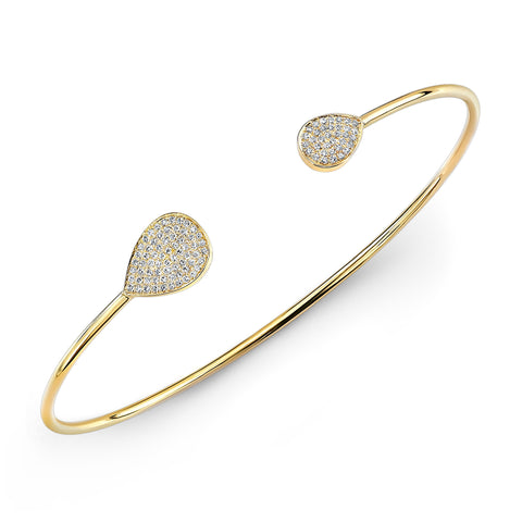 Diamond Yellow Gold Teardrop Bracelet