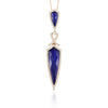 Lapis Doves Diamond Pendant Necklace
