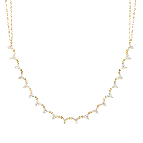 14k Gold Diamond Statement Necklace