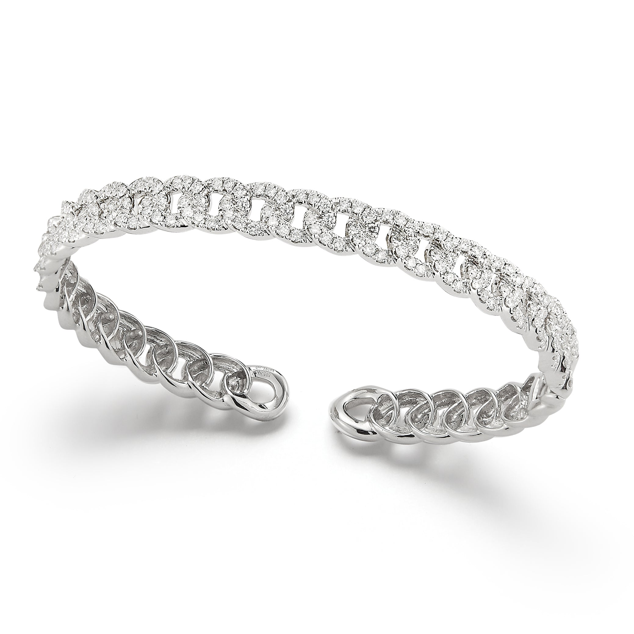 pave bracelet edition david diamond bangle limited jewelry yurman bangles white gold cable