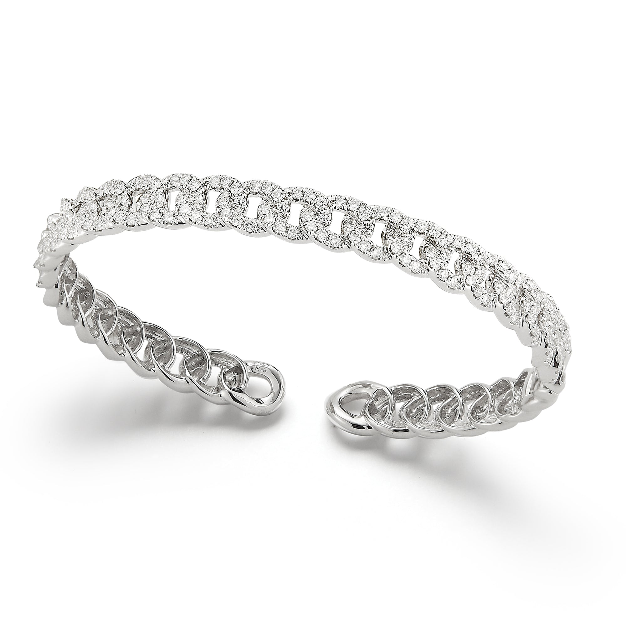 Diamond Small Link Cuff Bracelet